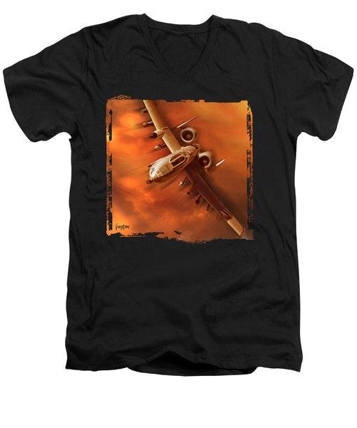 A10 Warthog Men's V-Neck T-Shirt
