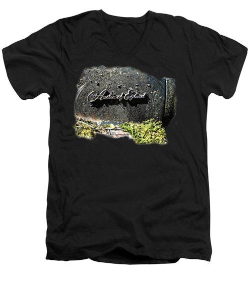 A40 Somerset Car Badge Men's V-Neck T-Shirt