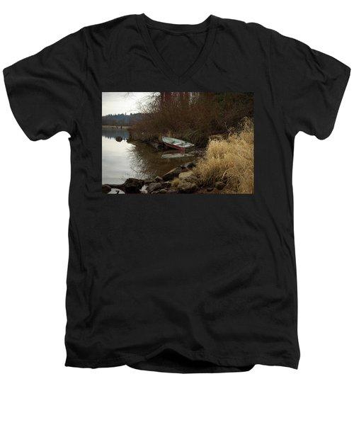 Abandoned Boat II Men's V-Neck T-Shirt