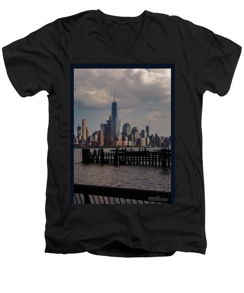 Abandoned Hoboken Pier Men's V-Neck T-Shirt
