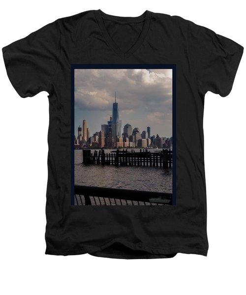 Abandoned Hoboken Pier Men's V-Neck T-Shirt