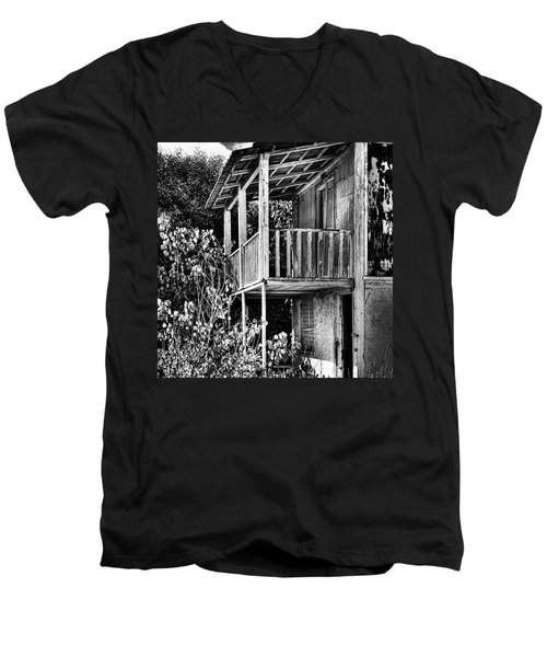 Abandoned, Kalamaki, Zakynthos Men's V-Neck T-Shirt by John Edwards