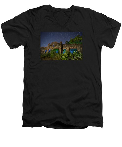 Abandoned Outlaw Gas Station II Men's V-Neck T-Shirt by Keith Kapple