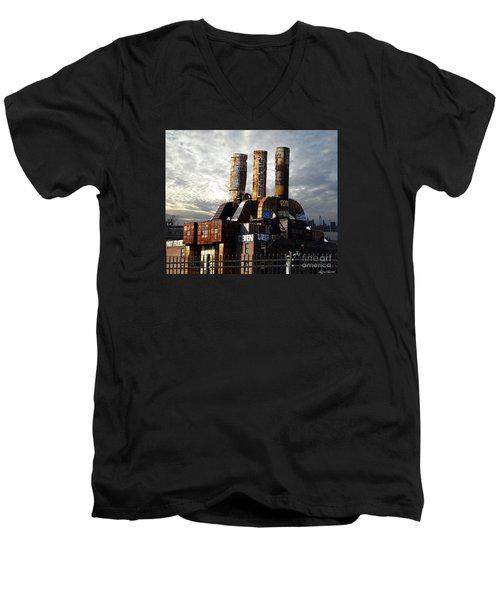 Abandoned Power Plant Men's V-Neck T-Shirt