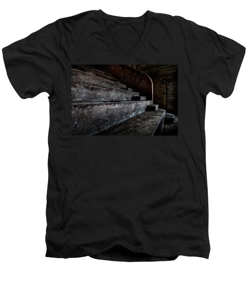 Abandoned Theatre Steps - Architectual Heritage Men's V-Neck T-Shirt by Dirk Ercken