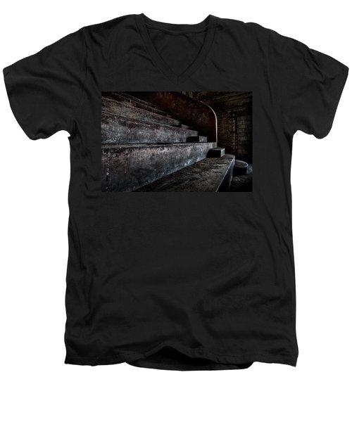 Abandoned Theatre Steps - Architectual Heritage Men's V-Neck T-Shirt