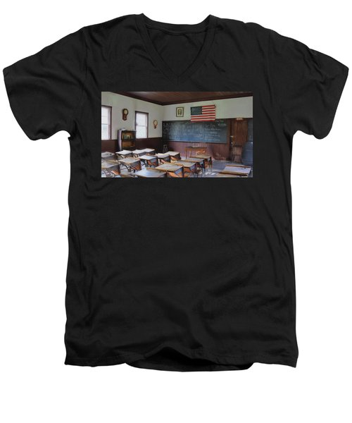Abc's Of Learning Men's V-Neck T-Shirt by Sharon Batdorf