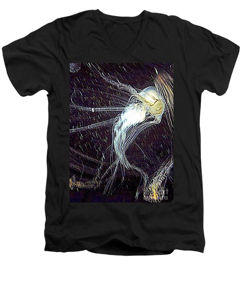 Men's V-Neck T-Shirt featuring the photograph Aberration Of Jelly Fish In Rhapsody Series 2 by Antonia Citrino