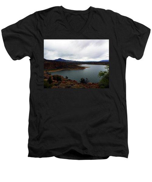 Abique Lake Nm Men's V-Neck T-Shirt