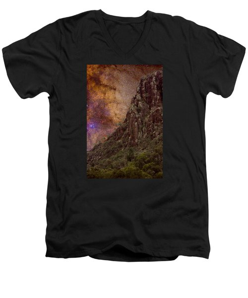 Men's V-Neck T-Shirt featuring the photograph Aboriginal Dreamtime by Charles Warren