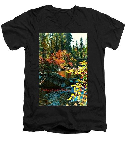 Above Tally Lake Men's V-Neck T-Shirt