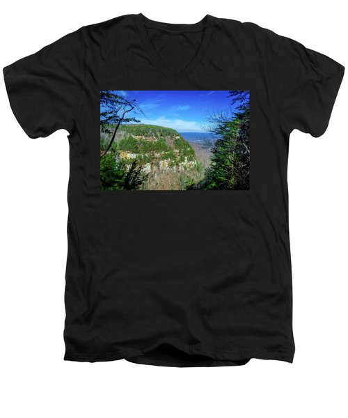 Above The Canyon Men's V-Neck T-Shirt