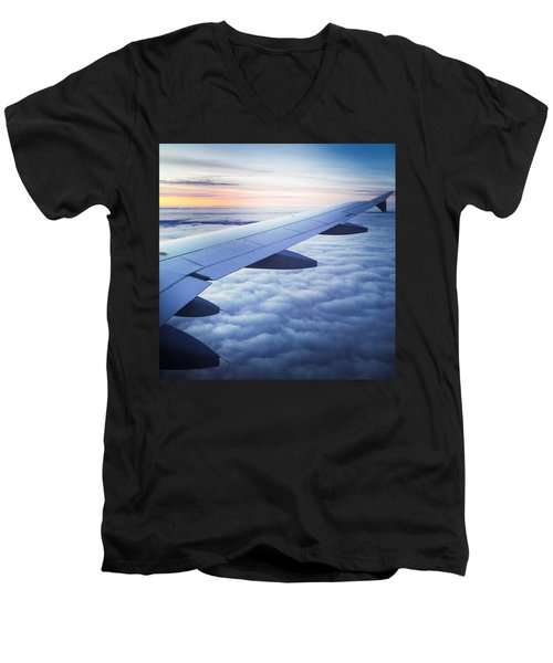 Above The Clouds 01 Men's V-Neck T-Shirt by Matthias Hauser