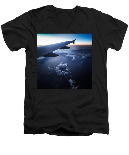 Above The Clouds 02 Heart Cloud Men's V-Neck T-Shirt