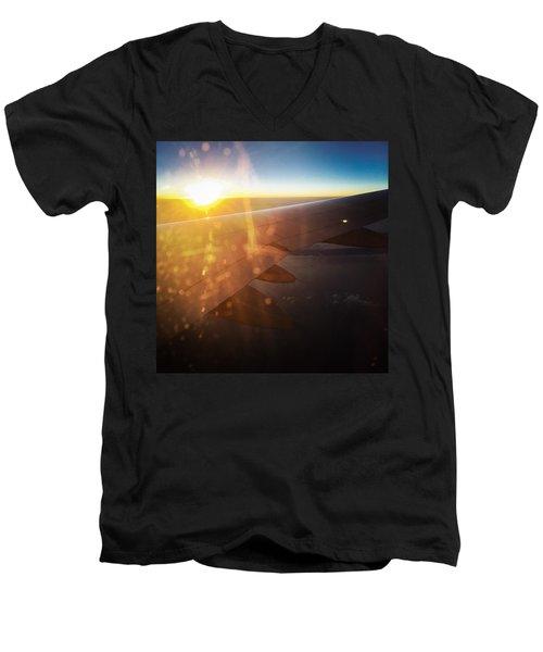 Above The Clouds 03 Warm Sunlight Men's V-Neck T-Shirt by Matthias Hauser