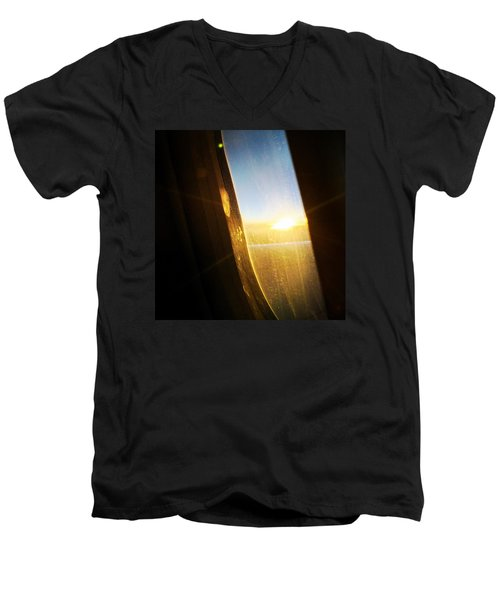 Above The Clouds 05 - Sun In The Window Men's V-Neck T-Shirt by Matthias Hauser