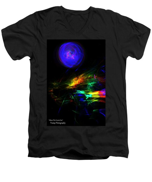 Above The Cosmic Sea Men's V-Neck T-Shirt