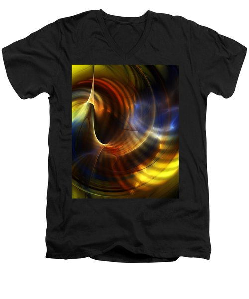 Abstract 040511 Men's V-Neck T-Shirt
