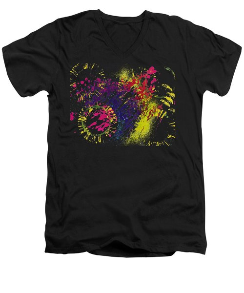 Abstract #1 Men's V-Neck T-Shirt by Lori Kingston