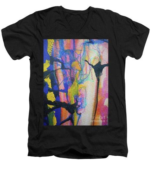 Abstract-3 Men's V-Neck T-Shirt