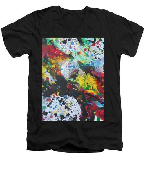 Abstract-9 Men's V-Neck T-Shirt