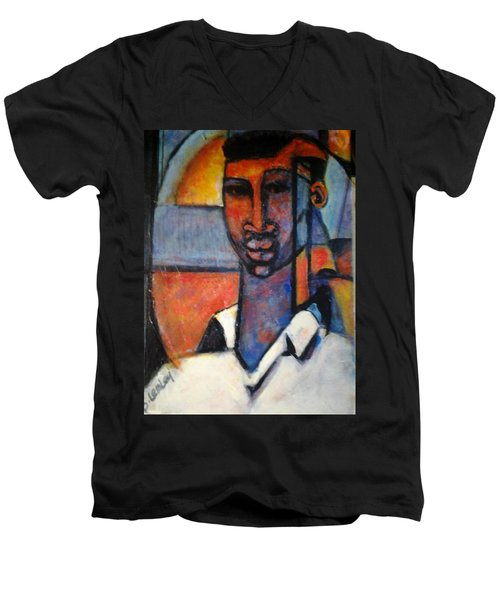 Abstract African Men's V-Neck T-Shirt
