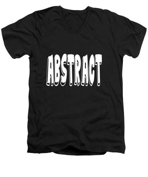 Abstract One Word Quotes Symbolic Art Quotes  Men's V-Neck T-Shirt