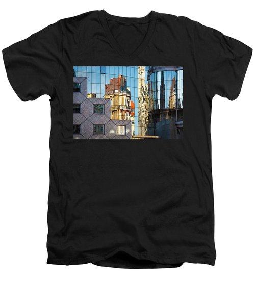 Abstract Architecture Men's V-Neck T-Shirt by Teemu Tretjakov