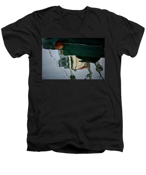 Abstract Boat Reflection II Men's V-Neck T-Shirt
