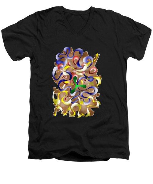Abstract Digital Art - Jamurina V2 Men's V-Neck T-Shirt by Cersatti