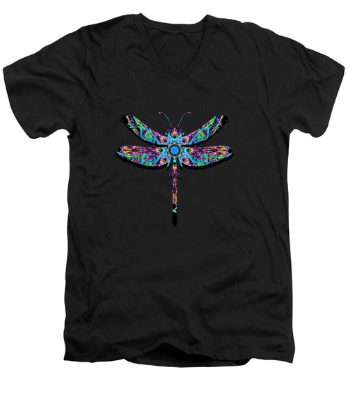 Abstract Dragonfly Men's V-Neck T-Shirt