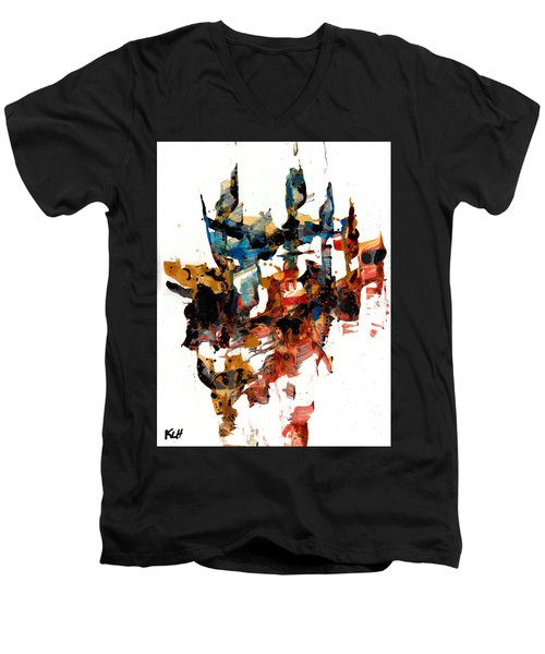 Abstract Expressionism Painting Series 750.102910 Men's V-Neck T-Shirt by Kris Haas