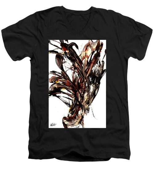 Abstract Expressionism Series 58.121210 Men's V-Neck T-Shirt