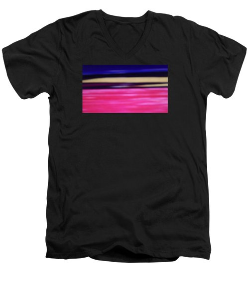 Men's V-Neck T-Shirt featuring the digital art Abstract Field 2 by Don Koester