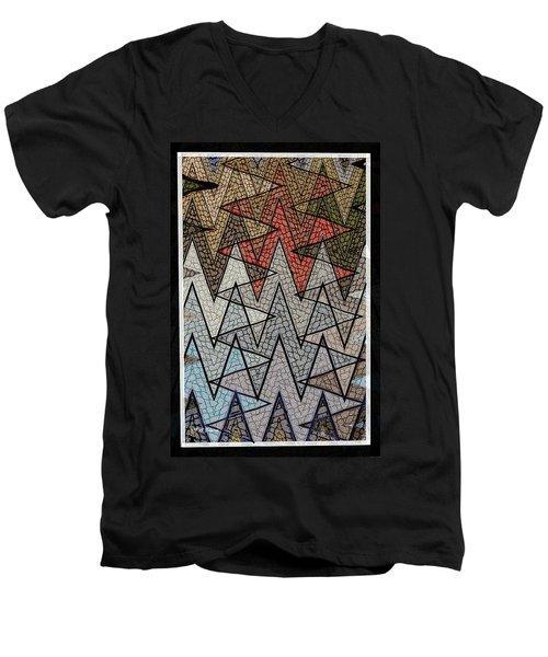 Abstract Floor  Men's V-Neck T-Shirt