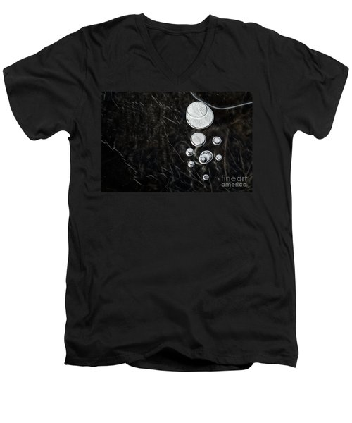 Abstract Ice Patterns II Men's V-Neck T-Shirt