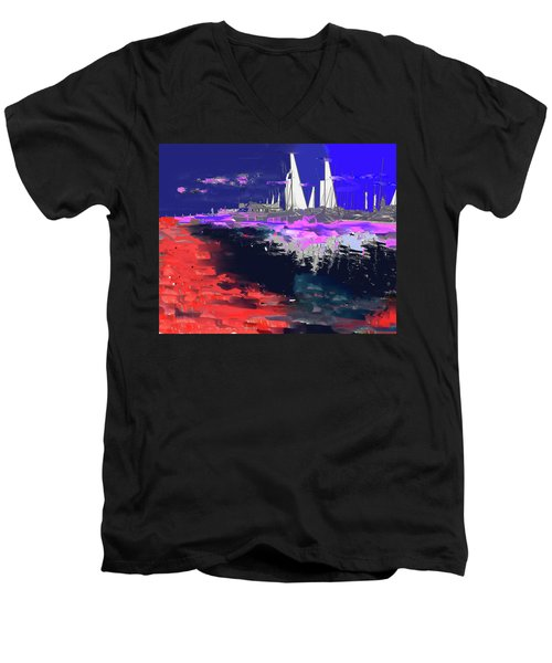Abstract  Images Of Urban Landscape Series #14 Men's V-Neck T-Shirt