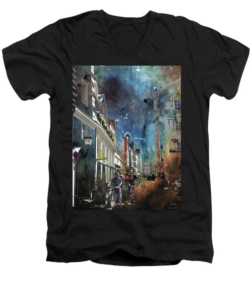 Abstract  Images Of Urban Landscape Series #6 Men's V-Neck T-Shirt