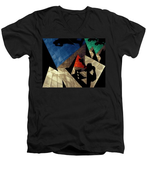 Men's V-Neck T-Shirt featuring the photograph Abstract Iterations by Wayne Sherriff