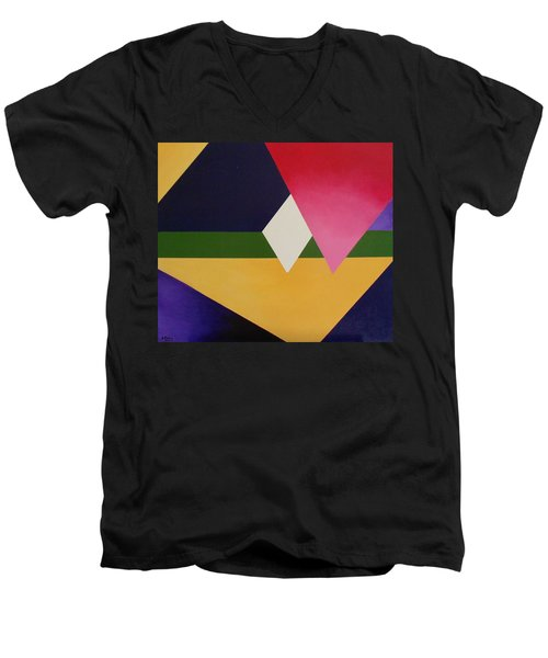 Men's V-Neck T-Shirt featuring the painting Abstract by Jamie Frier