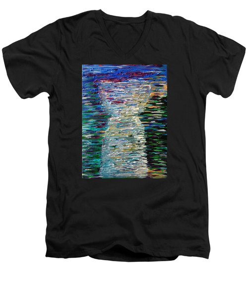 Abstract Latte Stone Men's V-Neck T-Shirt