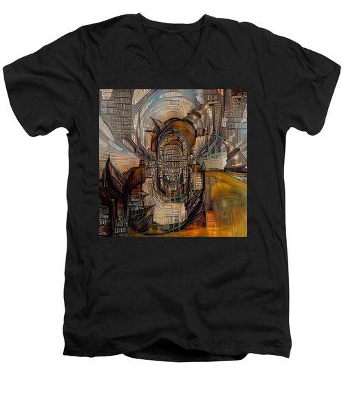 Abstract Liberty Men's V-Neck T-Shirt