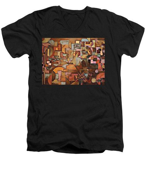 Abstract Mind Men's V-Neck T-Shirt