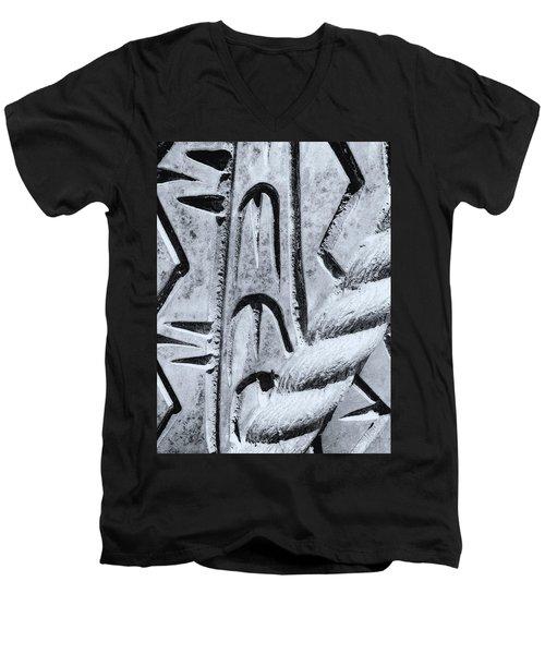 Abstract No. 97-2 Men's V-Neck T-Shirt