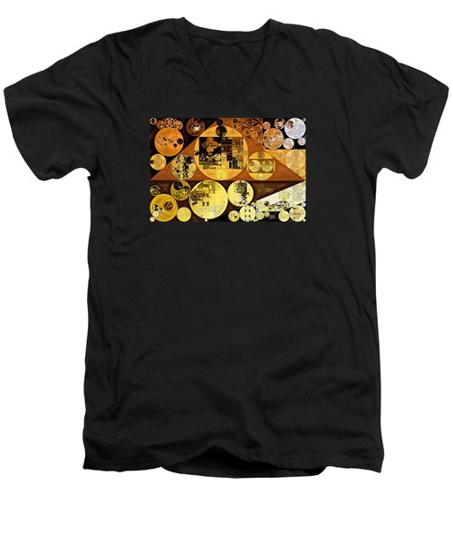 Men's V-Neck T-Shirt featuring the digital art Abstract Painting - Mai Tai by Vitaliy Gladkiy
