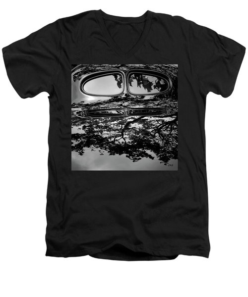 Abstract Reflection Bw Sq II - Vehicle Men's V-Neck T-Shirt