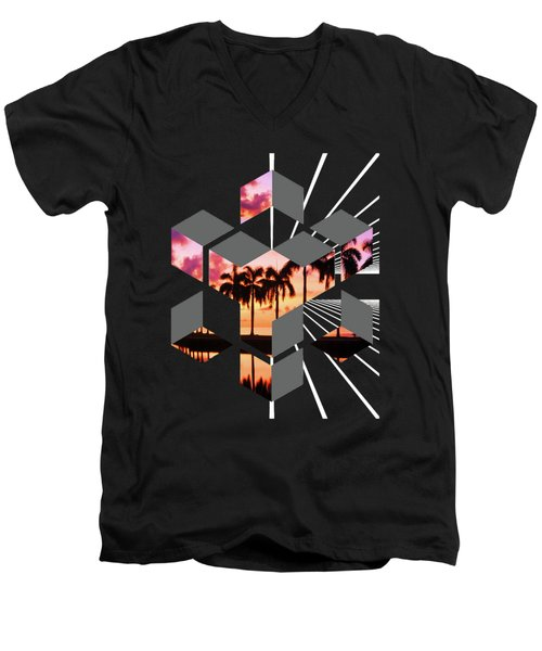 Abstract Space 3 Men's V-Neck T-Shirt by Russell K