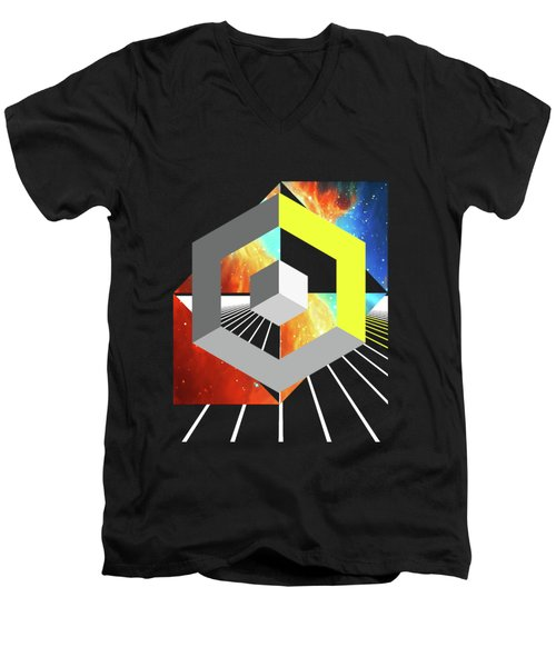 Abstract Space 4 Men's V-Neck T-Shirt by Russell K