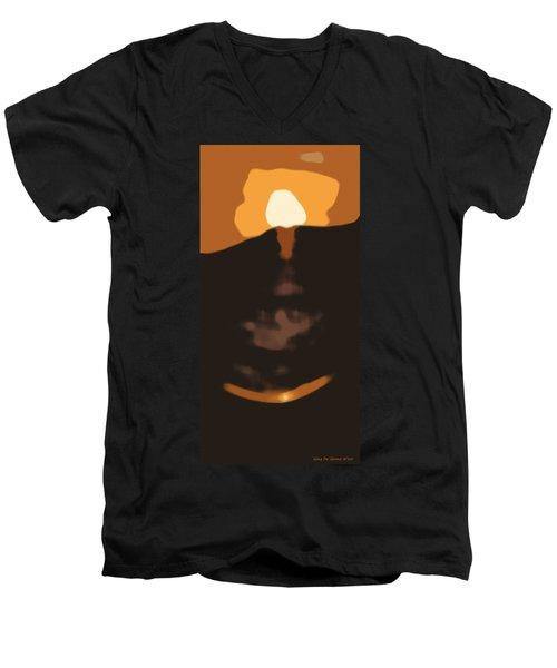 Abstract Sunset 33 Men's V-Neck T-Shirt