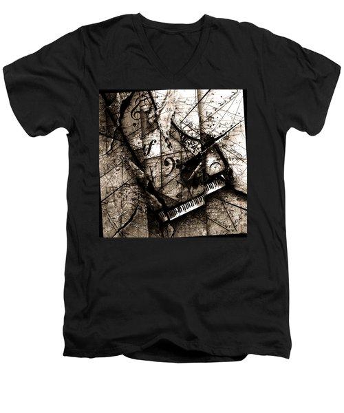 Abstracta 27 The Grand Illusion  Men's V-Neck T-Shirt by Gary Bodnar